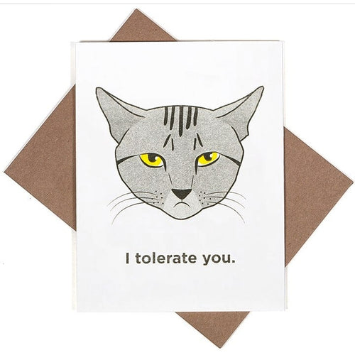 I Tolerate You Greeting Card
