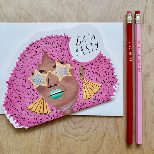 Let's Party Card + Pencil Gift Set