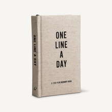 One Line a Day Memory Journal - Canvas