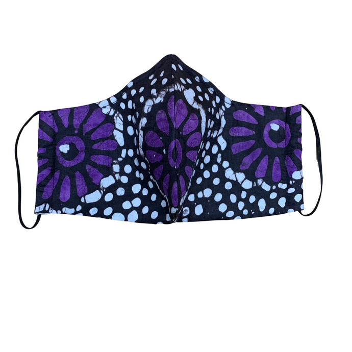 Batik Mask - Purple Print