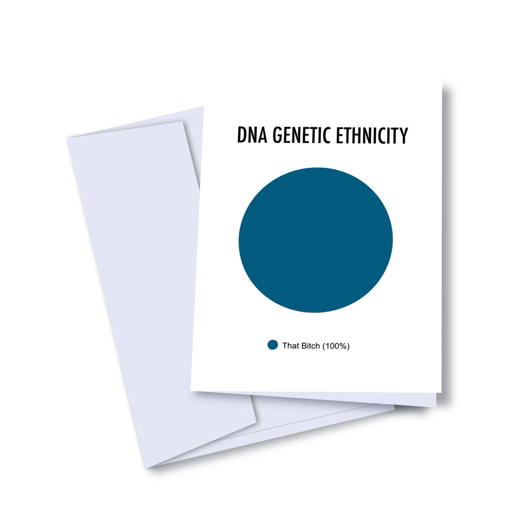 DNA Genetic Ethnicity Card