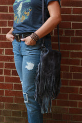 Leather Fringe Shoulder Bag