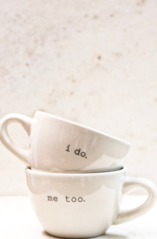 I Do...Me Too Cappuccino Cups Set