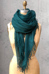 Chan Luu Cashmere and Silk Scarf Deep Teal