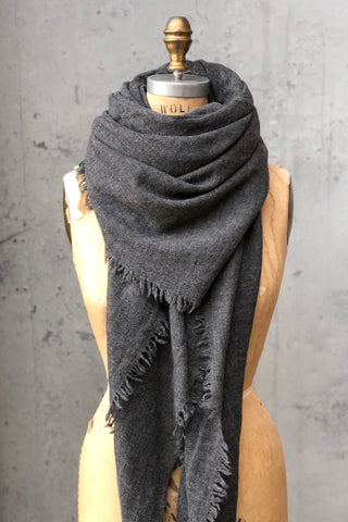 Chan Luu Cashmere Scarf Gray Heather