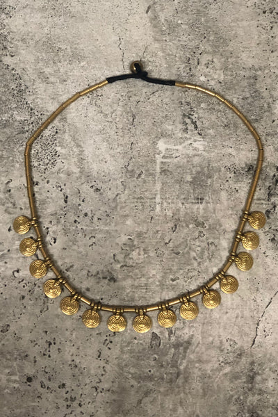 Eva Brass Necklace