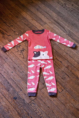 Toddler Pajama Set-Kitty and Fish