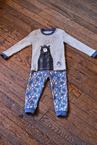 Toddler Pajama Set-Bear with Teacup