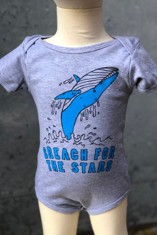 Graphic Print Onesie-Blue Whale