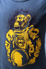 Graphic Print Onesie-Space Monkey