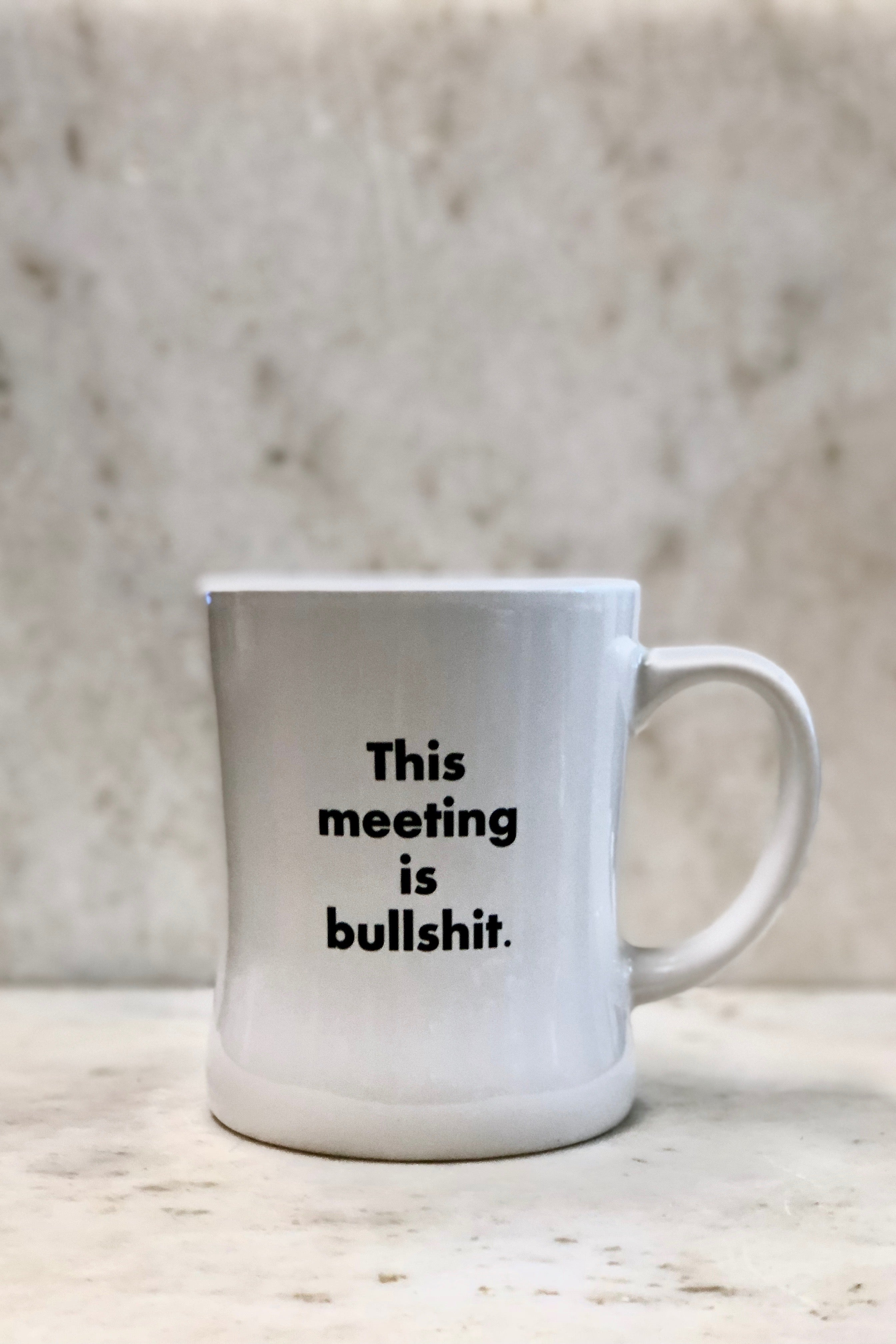 """This Meeting Is Bullshit"" Mug"