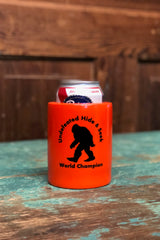 "Retro Can Koozie - ""Sasquatch Hide and Seek Champion"""