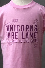 Kid's Graphic Tee-Pink Unicorns