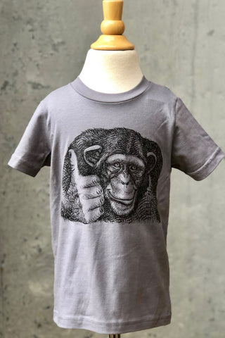 Kid's Graphic Tee-Monkey Thumbs Up