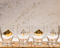 Glass & Wood Tasting Flight Set