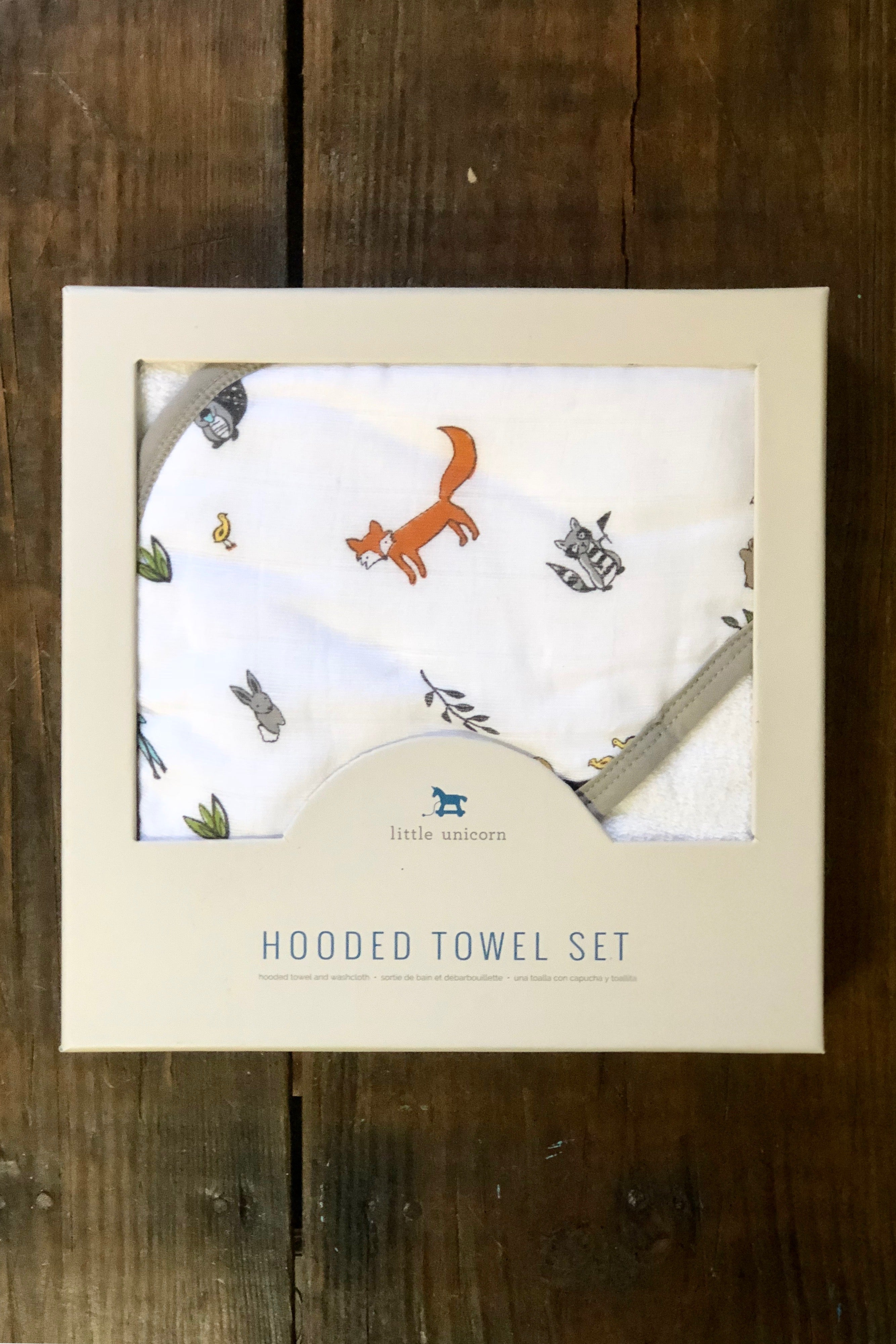 Hooded Towel Set-Forest Friends
