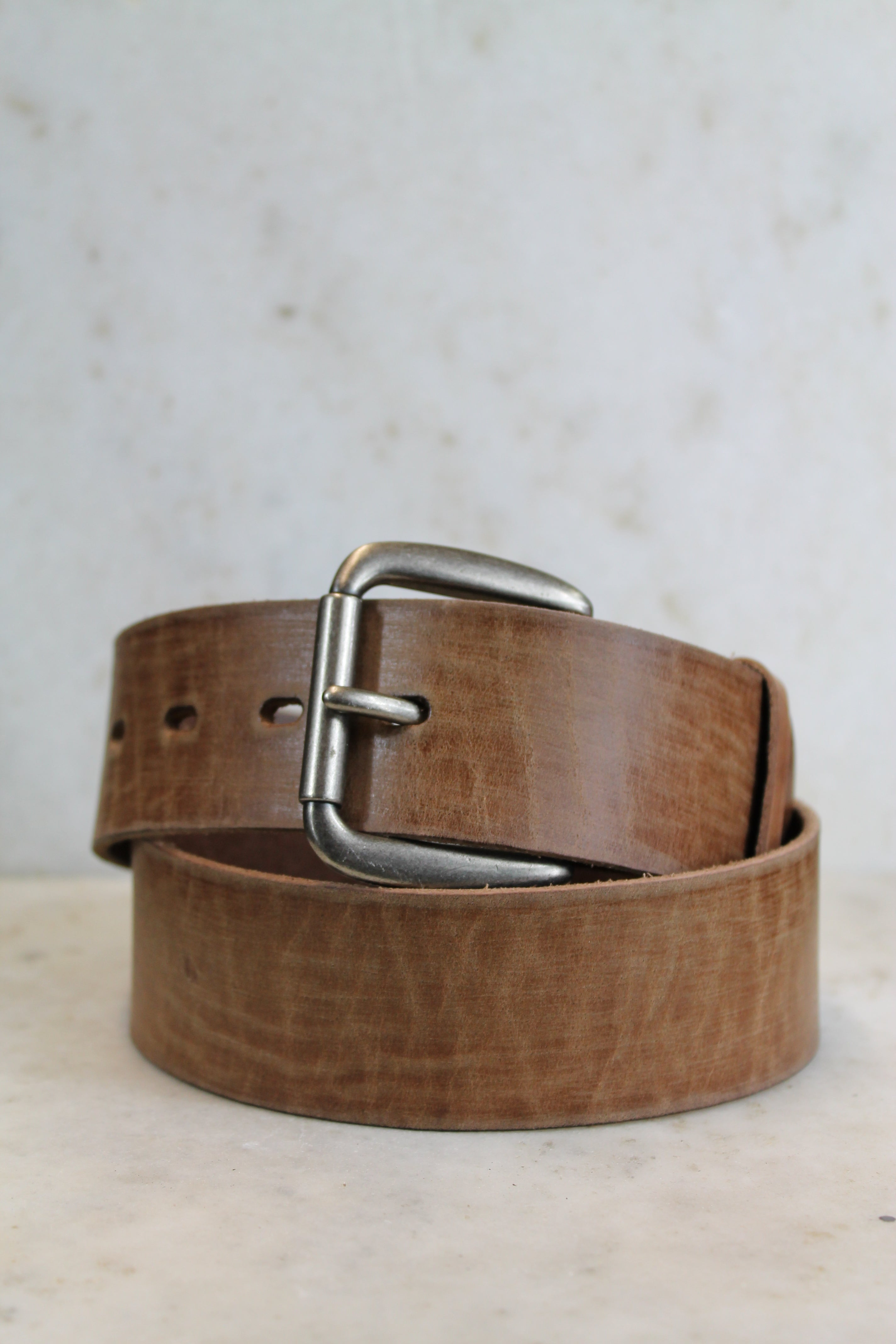 Oil Tanned Natural Leather Belt