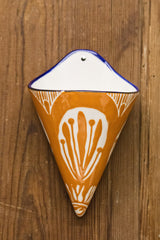 Stoneware Painted Wall Vase