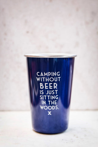 Stainless Steel Tumbler Blue with funny quote