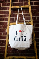 I Love Cats Canvas Tote Bag