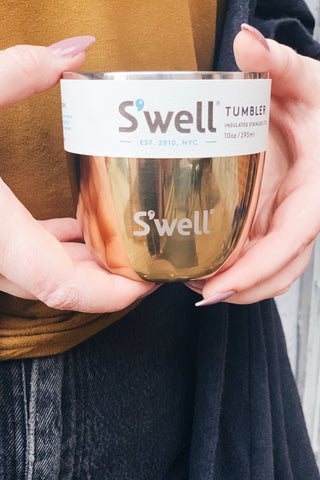 S'well Tumbler-10 oz. Yellow Gold