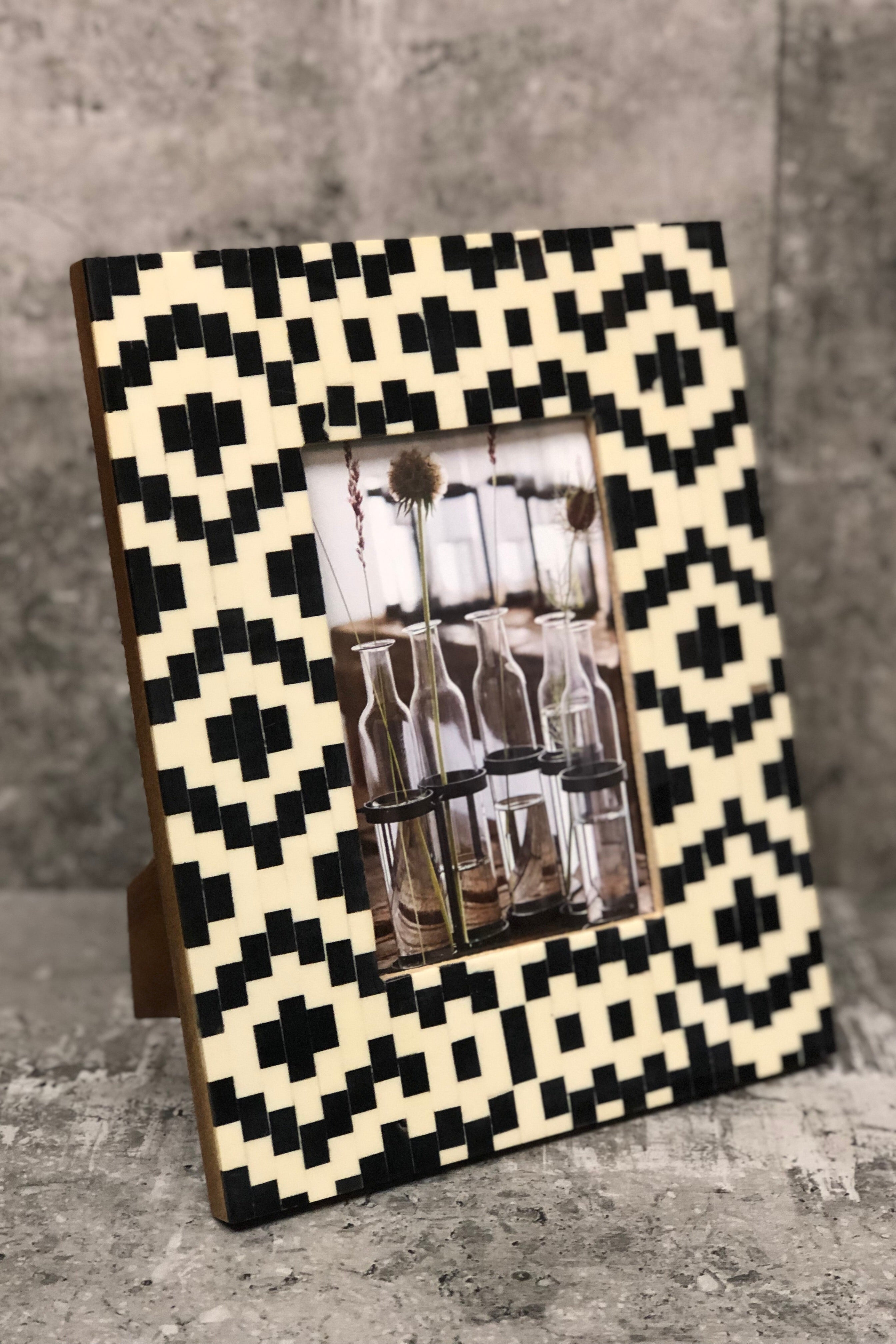 Geometric Squares Picture Frame
