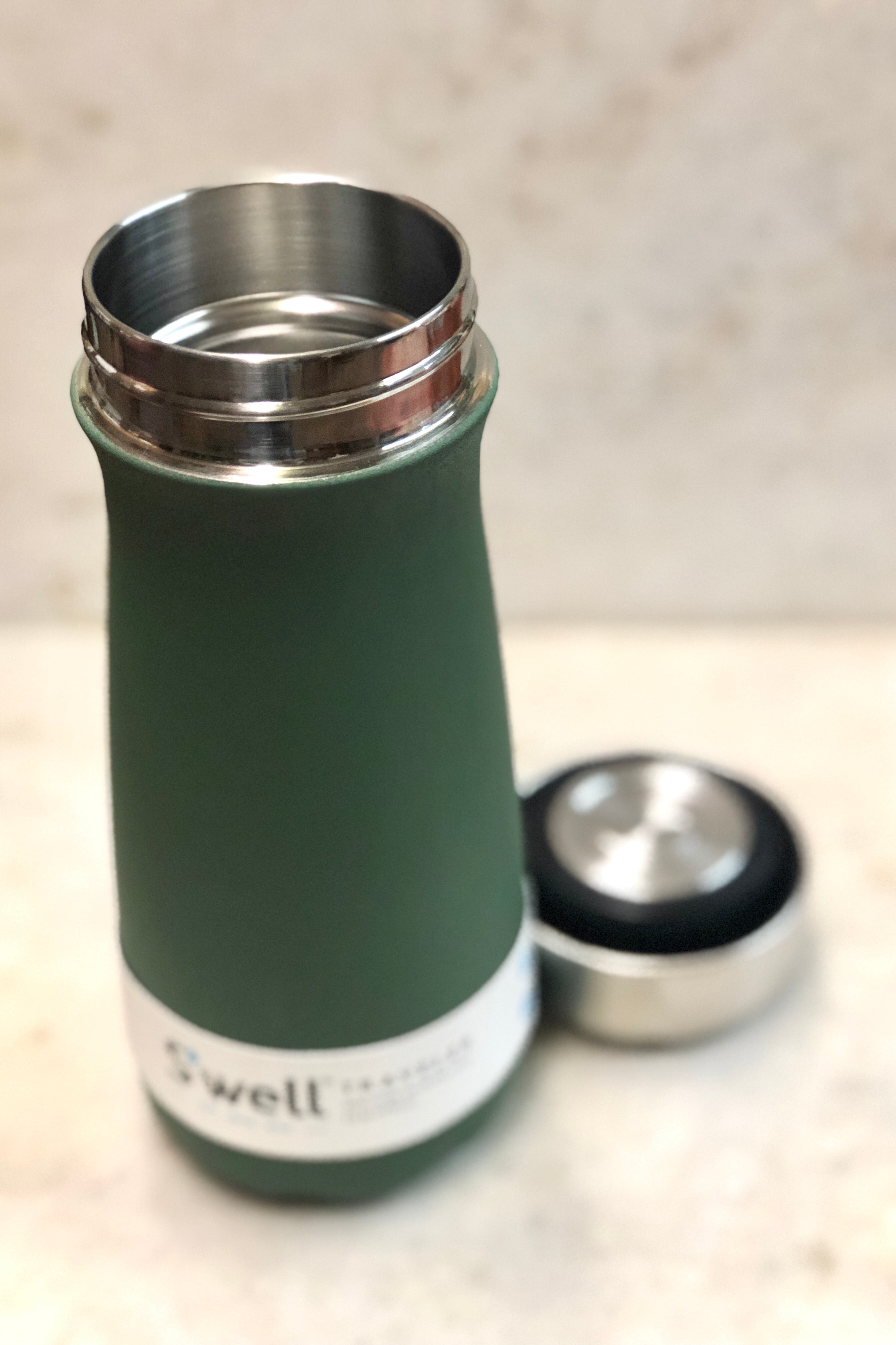 S'well Reuseable Traveler-16 oz. Green Jasper