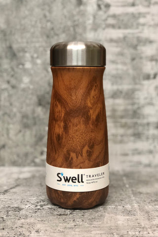 S'well Reuseable Traveler-16 oz. Teakwood