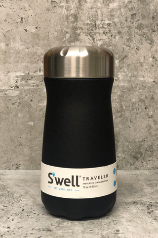 S'well Reuseable Traveler-12 oz. Onyx