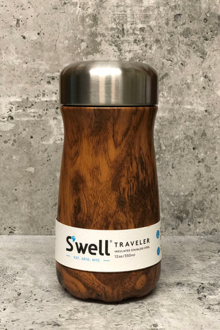 S'well Reuseable Traveler-12 oz. Teakwood