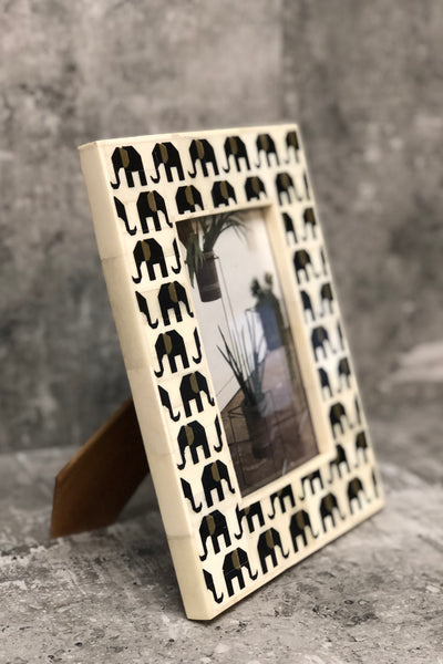 Elephants Inlay Picture Frame