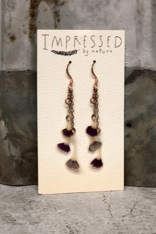 Sweet William Pressed Petal Earrings