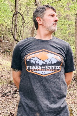 Peaks of Otter Tee |Heathered Dark Grey
