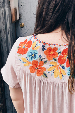 Flowy Embroidered Blouse