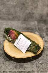Cedar + Rose Smudge Stick