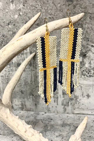 Striped Seed Bead Earrings