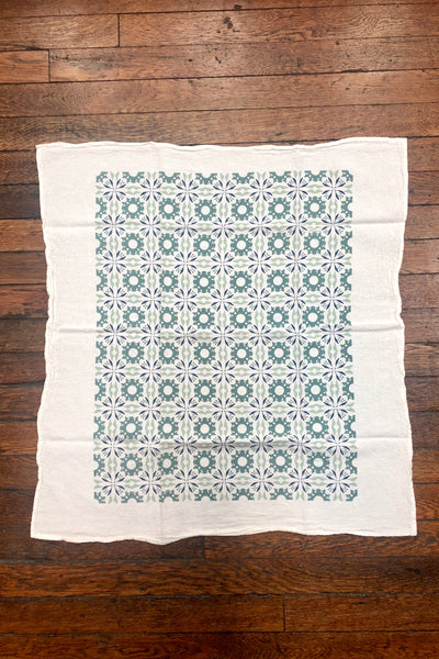Chicory Woodblock Kitchen Towel
