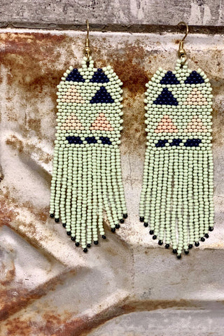 Triangles Seed Bead Earrings