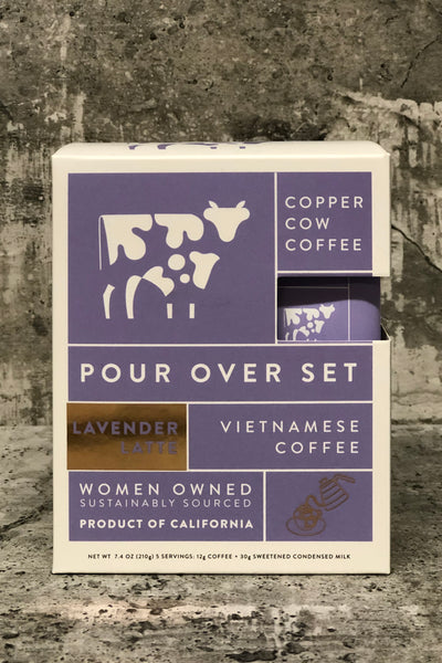Copper Cow Coffee Pour Over Set-Lavendar Latte