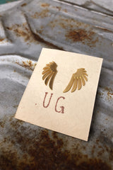Gold Feather Studs