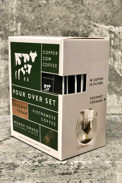 Copper Cow Coffee Pour Over Set-Coconut Vegan