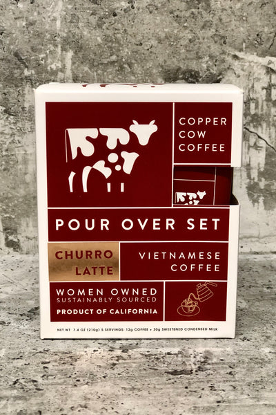 Copper Cow Coffee Pour Over Set-Churro Latte