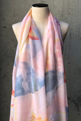 Seashell Watercolor Scarf