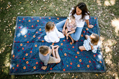Multi-Use Travel Blanket-Midnight Poppy