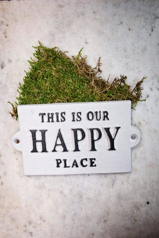 Happy Place Metal Wall Plaque