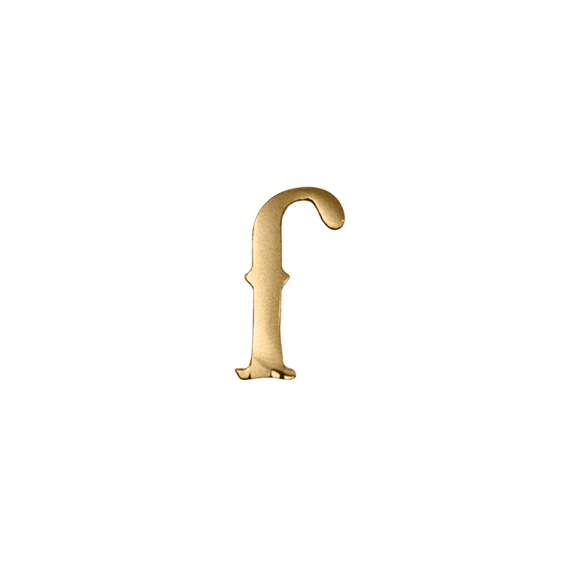 "Eight One Zero ""F"" Pin (Gold)"