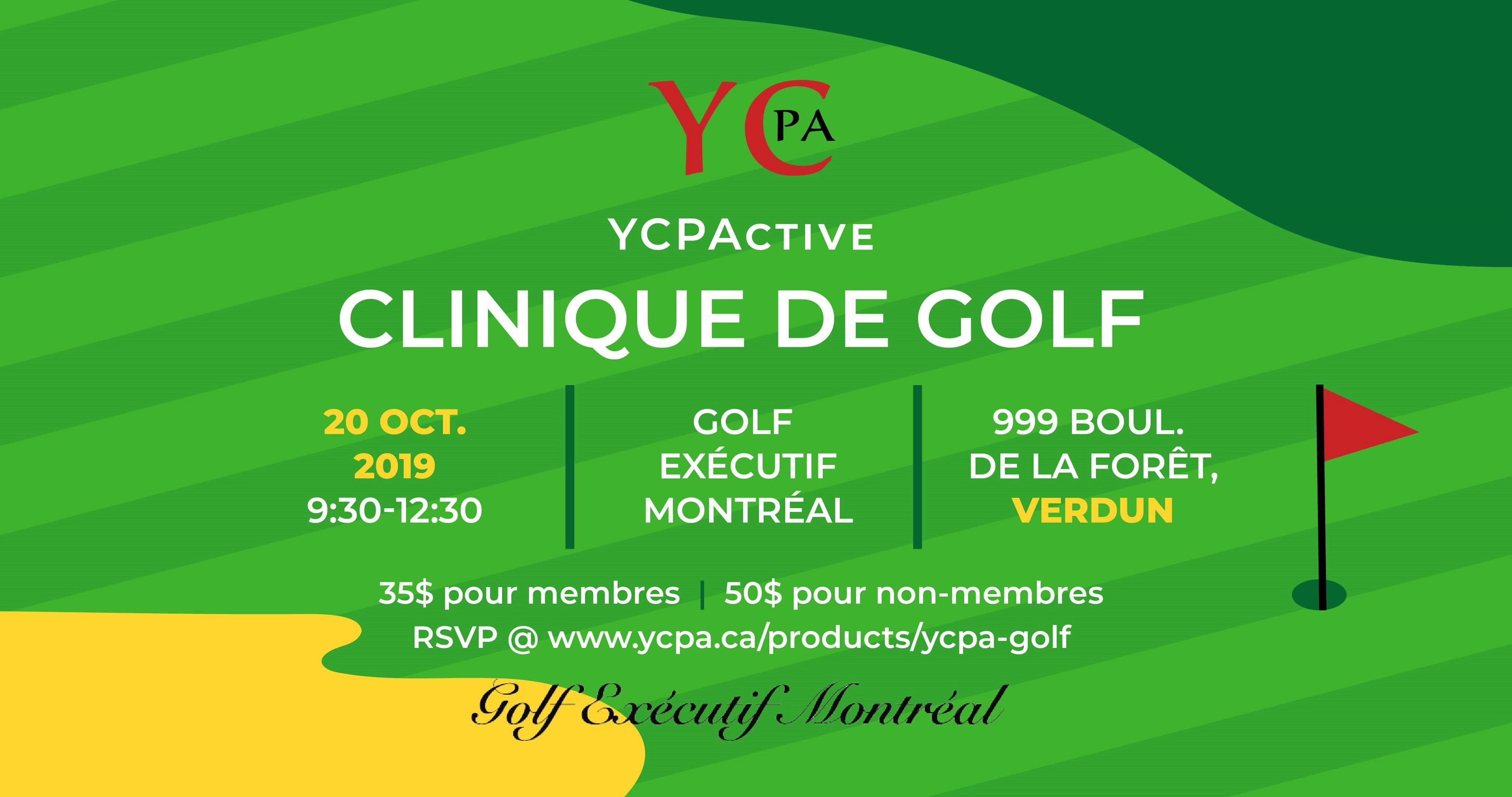 YCPA Golf Clinic 2019