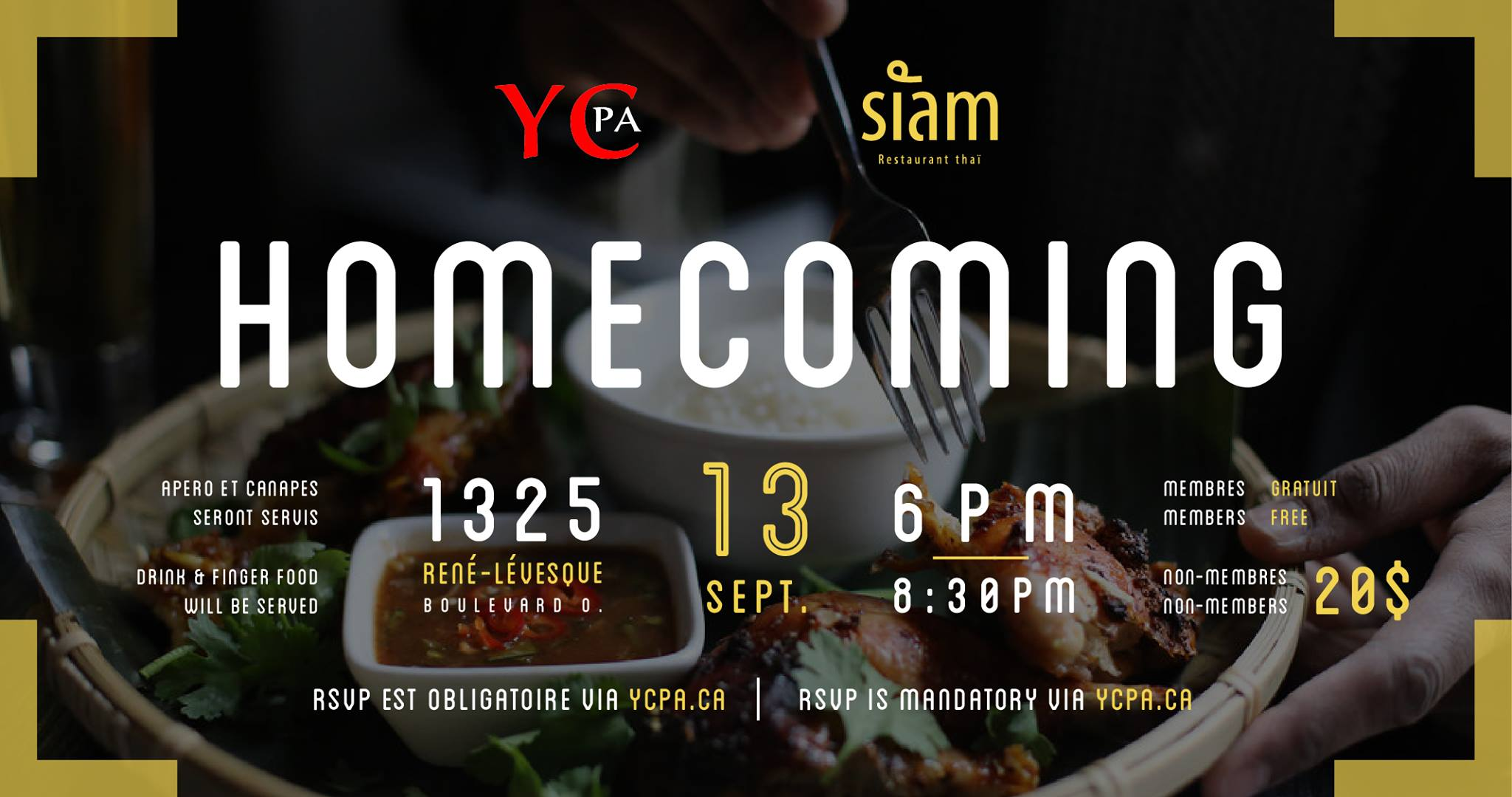 YCPA Homecoming 2018 - Member Price