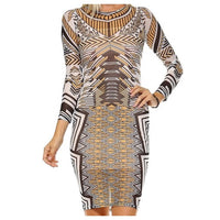 Sheer printed midi dress with lining