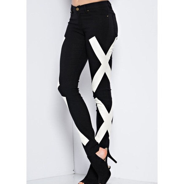 Geometric Graphic Pants - ShopFAH Boutique